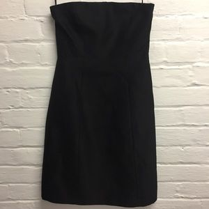 theory strapless cocktail dress